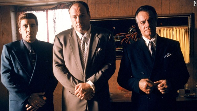 From left to right: Steven Van Zandt as Silvio Dante, James Gandolfini as Tony Soprano and Tony Sirico as Paulie Walnuts star in HBO's hit television series, 'The Sopranos' (Year 3). (Photo by HBO)