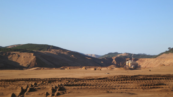 According to the company, the minerals removed from the sand through mining comprise about 5% of the dunes