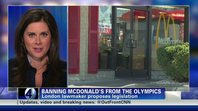 Critic: McDonald's unfit for Olympics