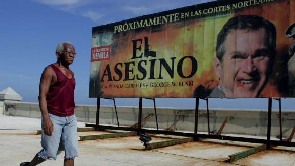 """A 2006 billboard in Havana reads """"Coming Soon to North American Courts:"""