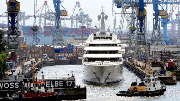 Chelsea football club owner Roman Abramovich is one of the superyacht owners rumored to be staying in the Docklands. The oligarch