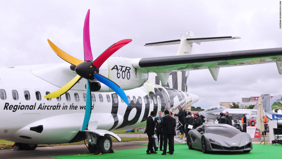 ATR, the world's leading manufacturer of regional aircraft below 90 seats, displays their updated version of the ATR 72-600. Proving to be a success at this year's show, the manufacturer has announced 23 firm orders from customers.