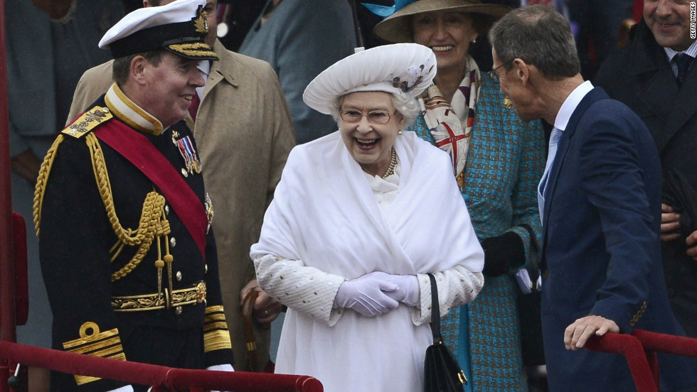 The Queen's Jubilee celebrations were dominated by rain as Her Majesty and the Royal Family were forced to brave wet and chilly conditions during a flotilla on the River Thames.