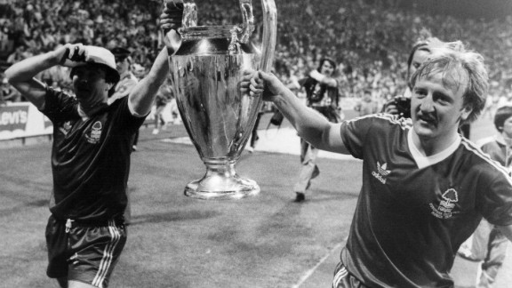 A year later, Forest stunned the football world by winning the European Cup, eliminating two-time defending champions Liverpool before beating Sweden