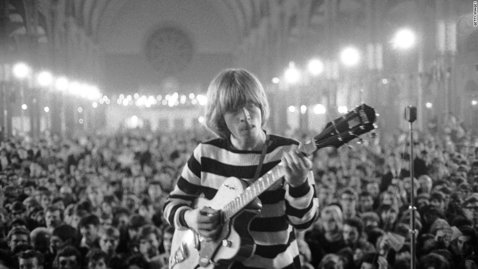 "Guitarist Brian Jones, a founding member of the Rolling Stones, was found dead in a swimming pool on July 3, 1969 after a party at his home. Rumors abounded that he'd been the victim of a crime, and i<a href=""http://www.cnn.com/2009/SHOWBIZ/Music/08/31/brian.jones.death/index.html?iref=allsearch"">n 2009, police in Sussex, England, began to look into his death</a> once again."