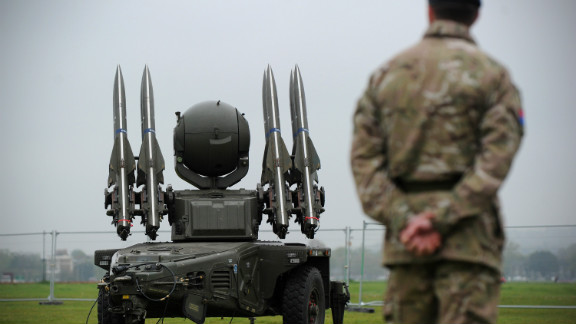 And despite the objections of local residents in east London, the British military have installed missiles in fields and on top of apartment buildings to defend against potential terrorist attacks.