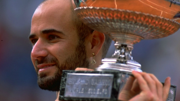 When Agassi won the French Open in 1999 he completed the set of winning all four grand slams and an Olympic gold medal. Only Rafael Nadal has also achieved this feat in the men