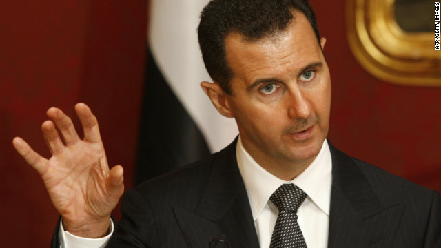 "Bashar al-Assad vowed to lead Syria ""towards a future that fulfills the hopes and legitimate ambitions of our people."""