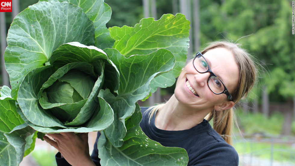 "Mavis said her first cabbage of the season was anything but a disappointment. ""Once you harvest your first crop, no matter what the size, you'll start to gain the confidence you need to expand your next garden and to try new things."""