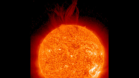 A very large filament became unstable and erupted June 27, 2012, as seen by the STEREO Ahead spacecraft in a wavelength of extreme UV light.