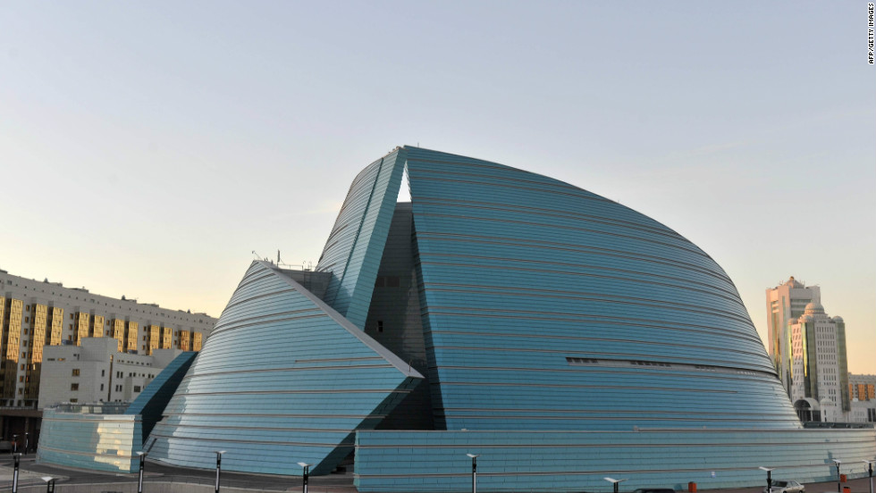 In December 1997, Kazakhstan's president Nursultan Nazarbayev moved the capital from Almaty in the southeast of the country to Akmola. The city's Central Concert Hall is pictured.