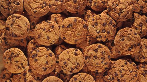 A chocolate chip cookie has about 150 calories. Thirty minutes of power yoga will work that off, if you can eat just one.