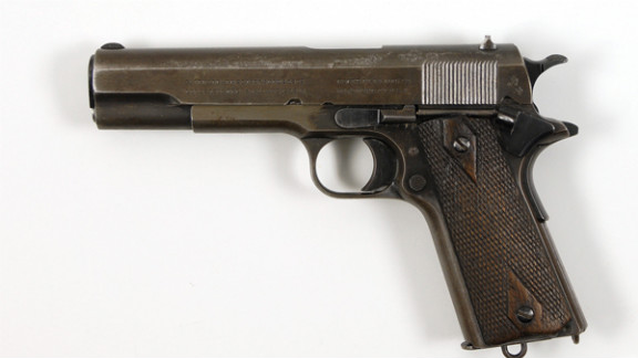 Clyde Barrow had this Colt Army pistol in his waistband when he was shot.