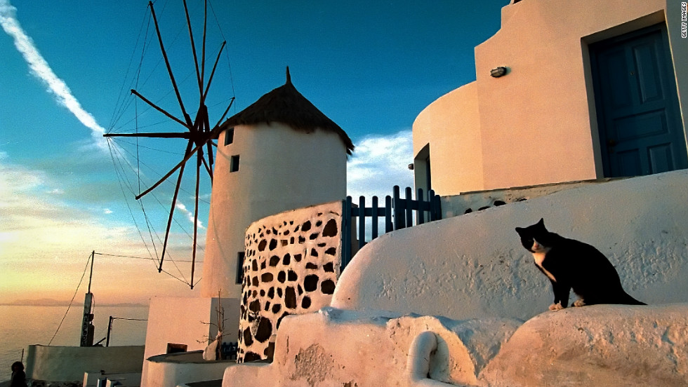 The Greek island of Santorini was voted the world's best island by Travel + Leisure magazine in 2011.