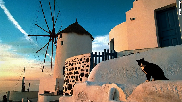 The Greek island of Santorini, voted the world's best island by Travel + Leisure magazine in 2011.