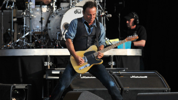 """Springsteen is known for his marathon sets, which in London included """"Thunder Road,"""" """"Because the Night,"""" """"Born to Run"""" and """"Dancing in the Dark."""""""