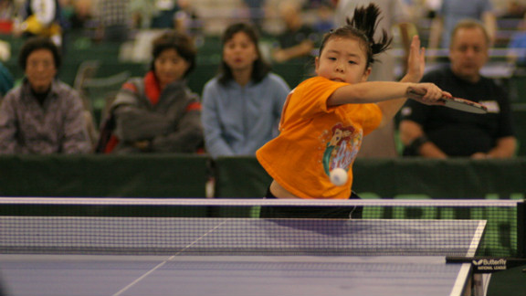 Hsing began playing table tennis at 7