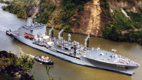 """The USNS Rappahannock, a fuel resupply ship, fired on what the officials called a """"small, white pleasure craft."""""""