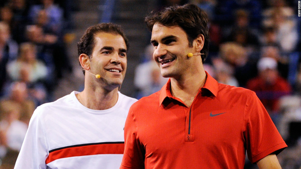 "The pair have since played in a number of exhibition matches. ""With Roger I'm amazed,"" Sampras said. ""He's 34 now, he's still ranked three in the world. He's competing for majors, he's still playing great tennis. He's almost playing better now than he did ten years ago. He's improving!"""