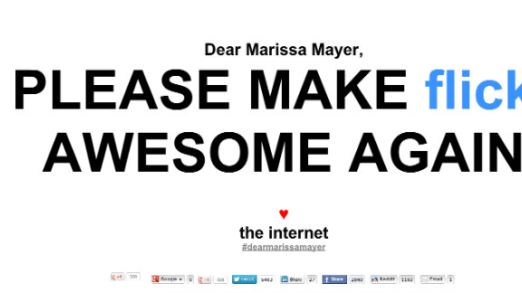 The Internet, or at least some of its users, has a message for Yahoo's new CEO.
