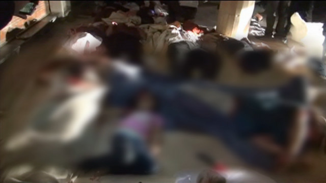 'Massacre' in a Damascus suburb