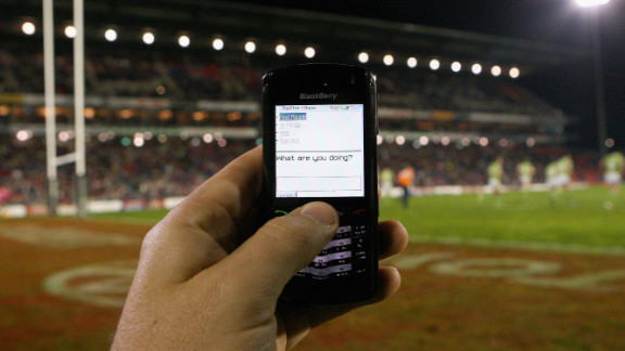 The mobile phone is becoming more and more prominent at sporting events, with spectators eager to share opinions and pictures via social media.