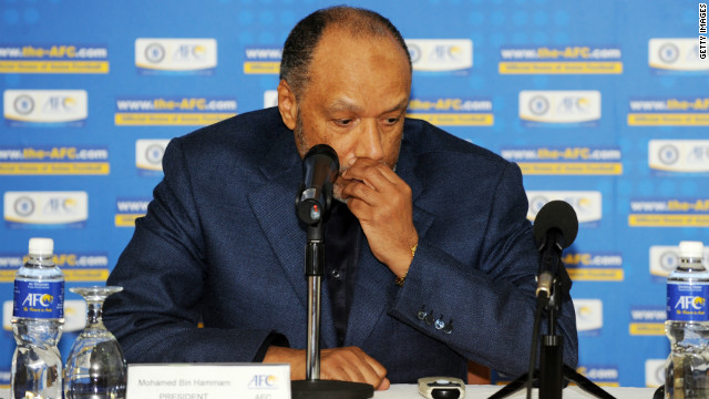 Mohamed bin Hammam was president of the Asian Football Confederation between August 2002 and August 2011.