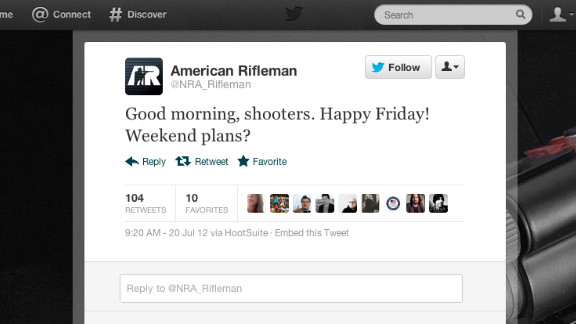 The NRA appeared to have removed this tweet by 12:30 p.m. ET on Friday.