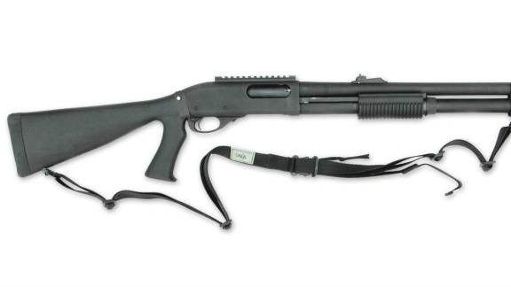 A 12-gauge 870 Remington shotgun.