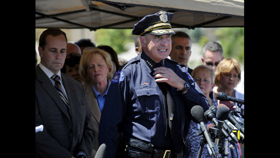 Aurora police chief Daniel J. Oates speaks at a press conference near the Century 16 Theater on July 20, 2012.