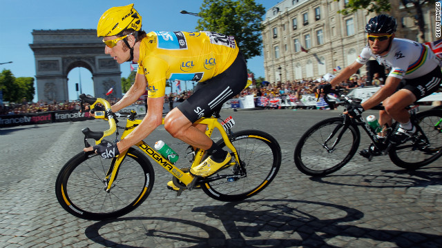 First British cyclist wins Tour de France