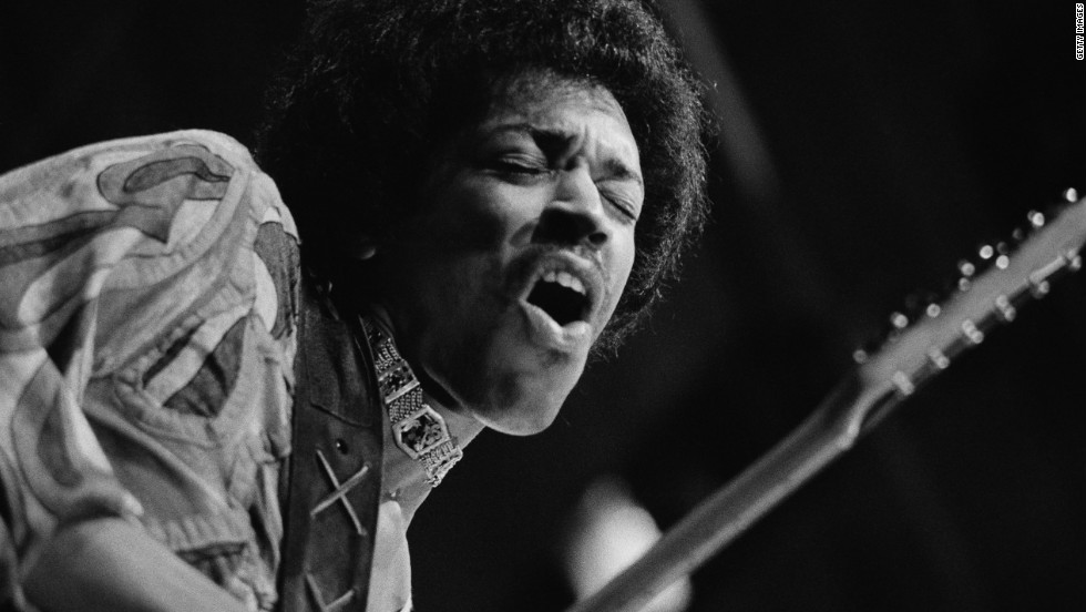 Jimi Hendrix took the destruction to a new level when he set his guitar on fire, most notably at 1967's Monterey Pop Festival.