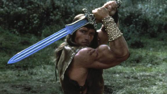 "Arnold Schwarzenegger in ""Conan the Destroyer"" -- a true hero."