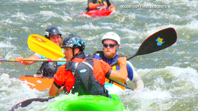 Kayaker's adventures for cancer patients