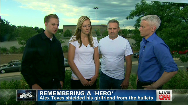 On Anderson Cooper's show, a father of a victim of the Aurora shooting said he thought the media should not mention the name of the Colorado shooter
