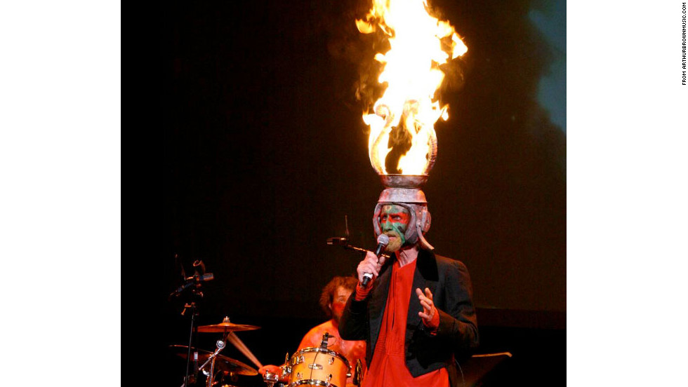 Arthur Brown also incorporated fire into his act by wearing a flaming crown.