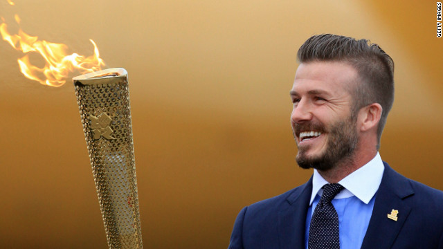David Beckham supports the Games