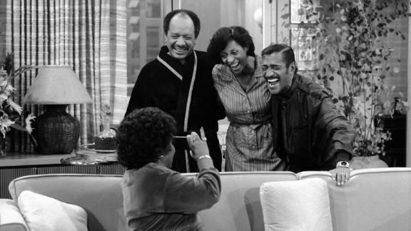 """Sammy Davis Jr., right, guest stars on """"The Jeffersons'"""" episode """"What Makes Sammy Run?"""""""