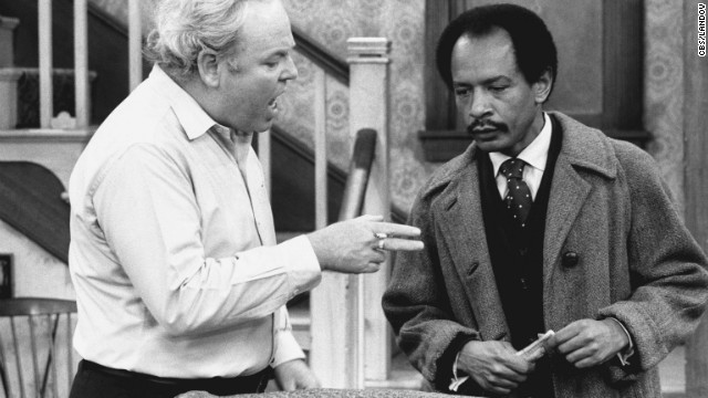 "Carroll O'Connor stars as Archie Bunker and Sherman Hemsley as George Jefferson, in the ""Pay the Twenty Dollars"" episode of the CBS television series ""All In The Family."""