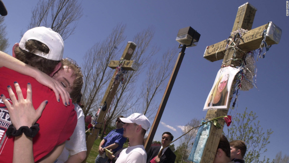 Zanis also built crosses for the victims of the 1999 Columbine school shooting.