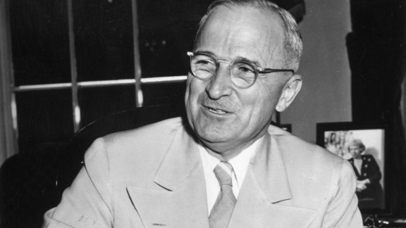 President Harry Truman was a big fan of playing horseshoes -- he even had a pitch installed outside the Oval Office. Truman took it a step further by having a horseshoe mounted above the door to his office for good luck.