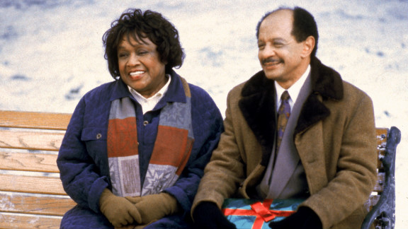 """Isabel Sanford, left, and Sherman Hemsley appear on an episode of the television """"Lois & Clark: The New Adventures of Superman"""" in 1994."""