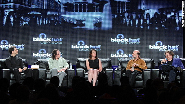 A panel of security experts debated the role of government in online security at the annual Black Hat conference.