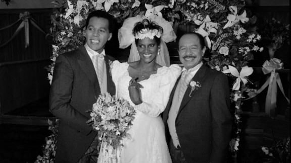 """From left, Clifton Davis, Anna Maria Horsford and Sherman Hemsley on set of the TV series """"Amen,""""  which aired from 1986-1991."""