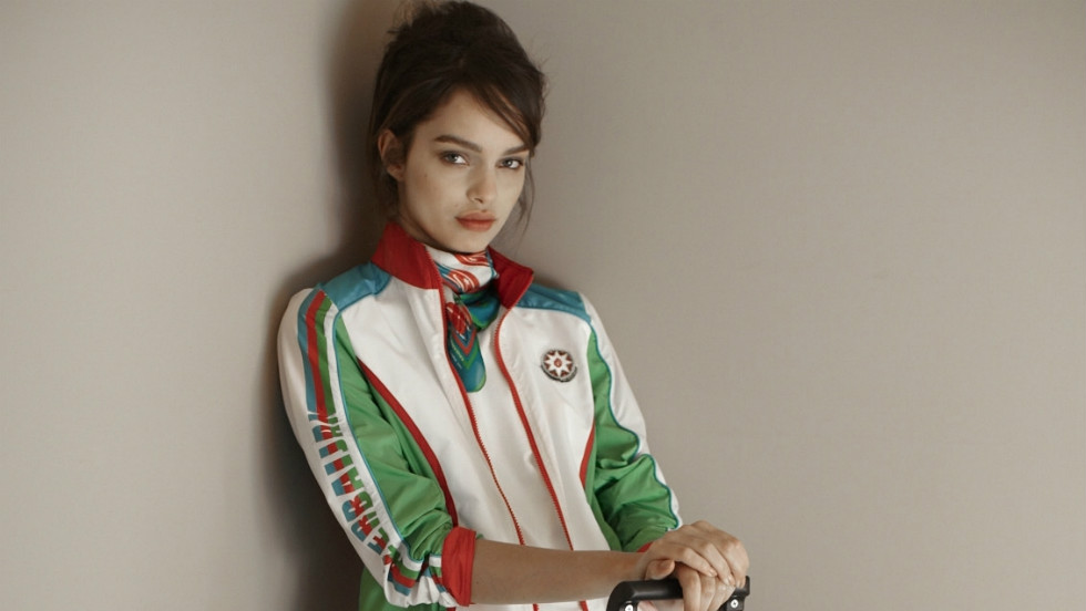 "Lesser-known Italian fashion house Ermanno Scervino describes itself as ""a luxurious glam-rock essence made in Florence."" These designs for the Azerbaijan squad will go some way to putting the former Soviet republic on the map during the Games."