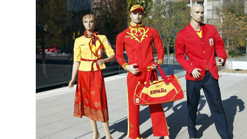 "The uniforms that Russian designers Bosco Sport created for the Spain's Olympians are so dreadful that the athletes have taken to social-networking website Twitter to express their displeasure. Hockey player Alex Fabregas uploaded a picture of himself clad in his new gear with the caption: ""Olympic kit ... there are no adjectives."""