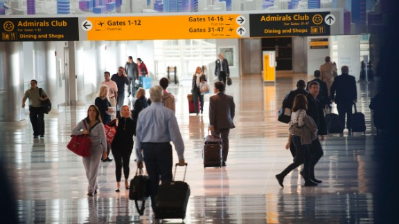 Passengers walk through John F. Kennedy International Airport, which was No. 1 on the researchers