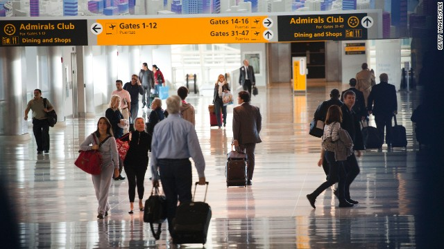 Passengers walk through John F. Kennedy International Airport, which was No. 1 on the researchers' list.