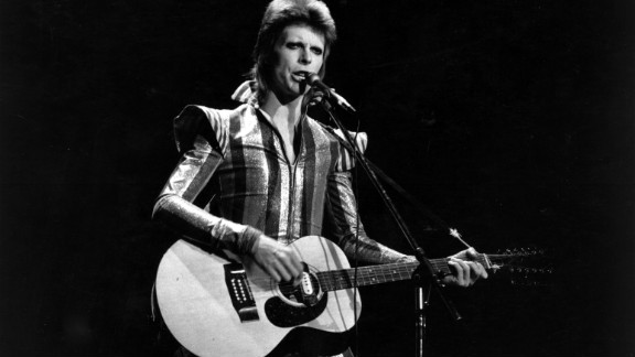 """David Bowie performs his final concert as Ziggy Stardust in 1973 at the Hammersmith Odeon, London. His hit """"Heroes"""" was used to introduce the home nation Team GB to the Olympic stadium."""