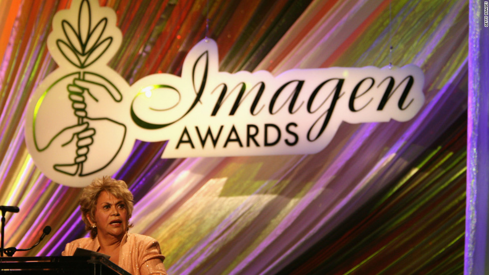 Ontiveros addresses the Imagen Awards show in 2006 in Beverly Hills, California.
